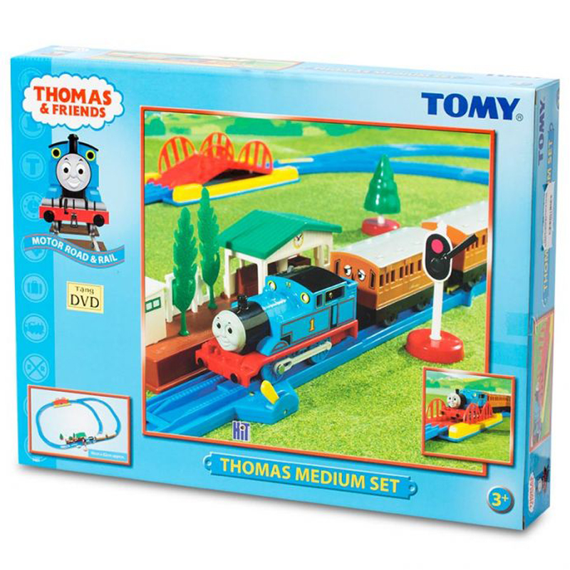 Do choi mo hinh xe lua Thomas Medium Set Tomy 7401