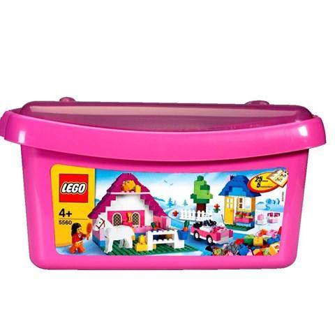 Do choi Lego Brick&More 5560 - Thung gach lon mau hong(cho be gai)
