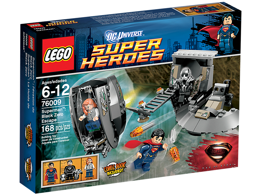Do choi lego 76009 - Xep hinh Superman Black Zero Escape V29