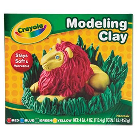 Bo dat nan 4 mau Crayola (do - vang - xanh duong - xanh la cay)