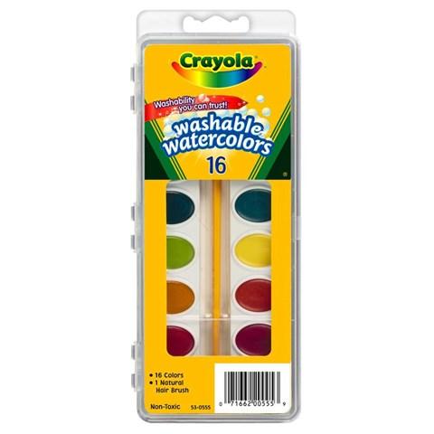 Bo mau nuoc vi 16 mau (tay rua duoc) - Crayola 5305552007