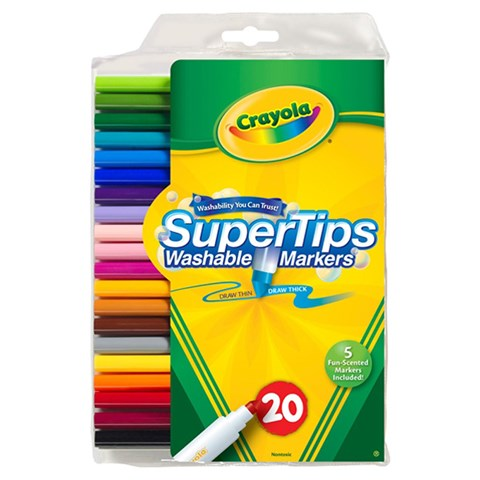 But long 20 mau Super Tips (tay rua duoc) - Crayola 5881061019
