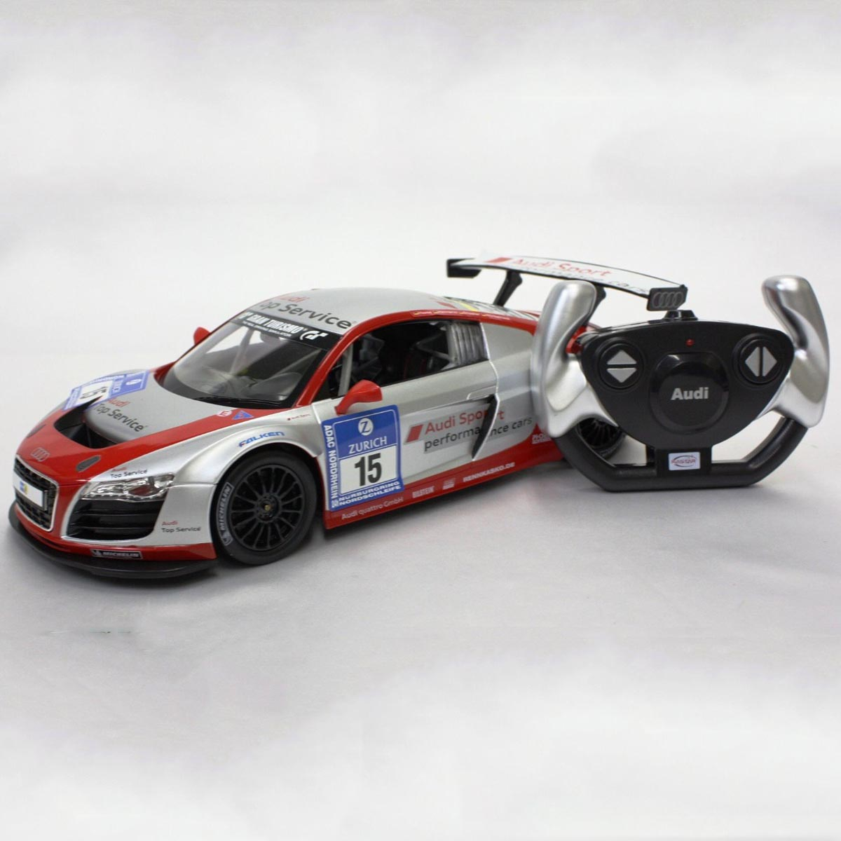 Do choi o to dieu khien Audi R8 LMS Performance - Rastar 53610