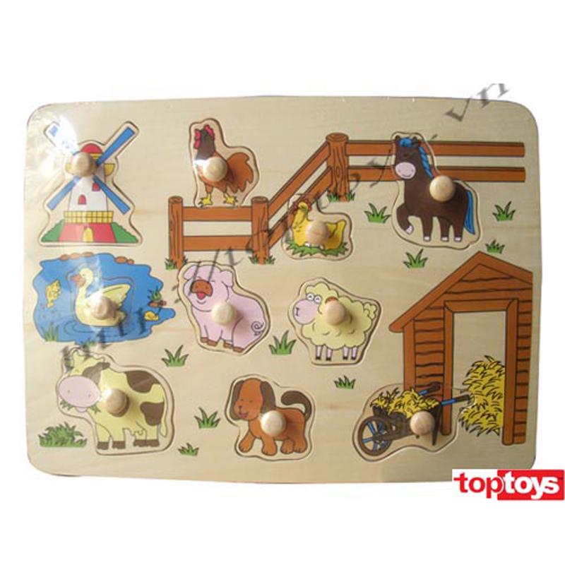 Do choi go toptoys - Bang nhan hinh thu nong trai 98103