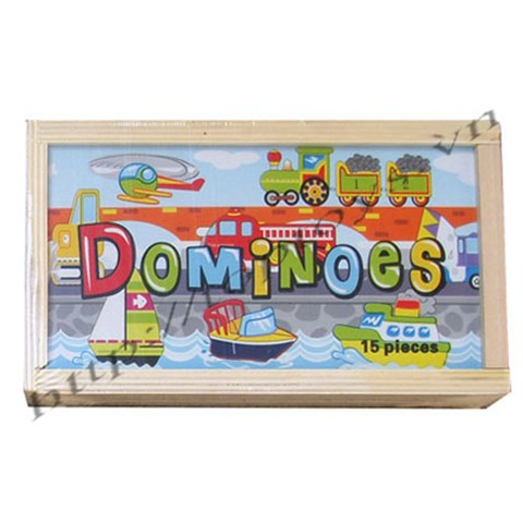 Do choi go Toptoys - Domninoes ghep phuong tien giao thong 93425B