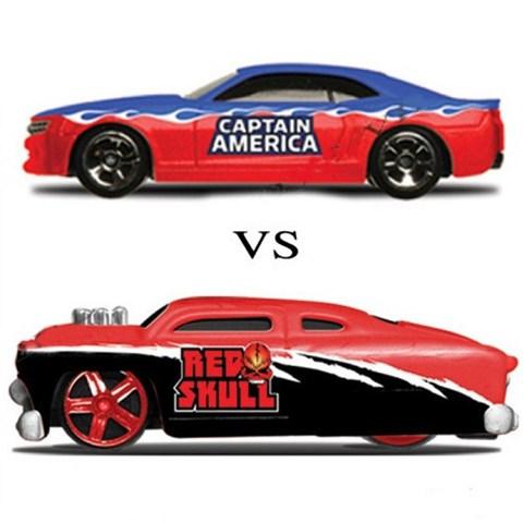 Xe sieu anh hung Marvel - Captain America vs Redskull