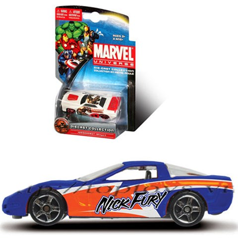 Xe sieu anh hung Marvel - Nick fury 97 Cherrvolet Corvette