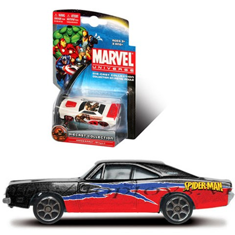 Xe sieu anh hung Marvel - Spider man-1969 dodge charger RT