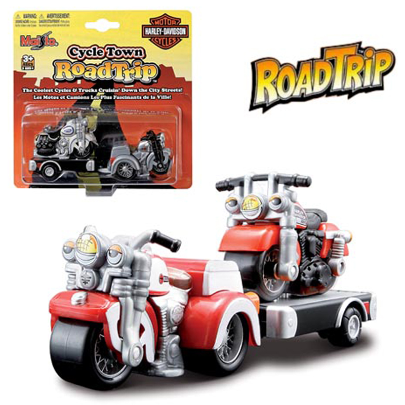 Do choi Maisto - bo xe Moto keo Harley Road Trip