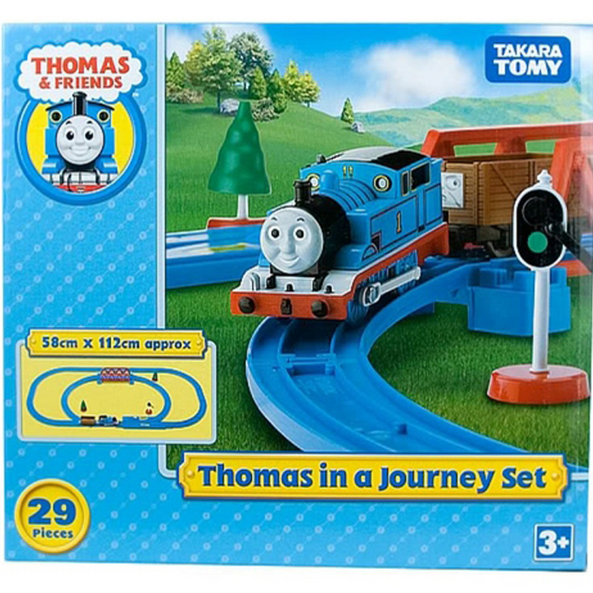 Bo mo hinh xe lua Thomas 354567 thomas in a Journey Set