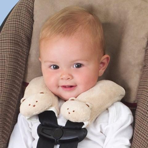 Boc day an toan (seatbelt) Summer Cushystraps ivory teddy bear
