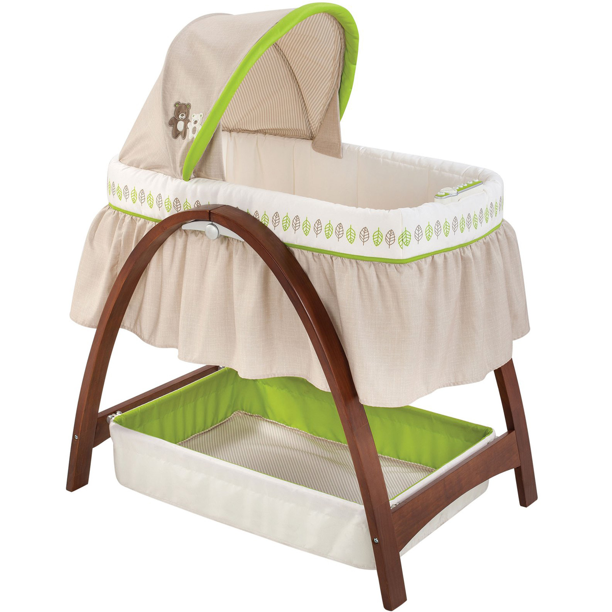 Noi rung Summer SM26070 Bentwood Bassinet With Monitor Baby