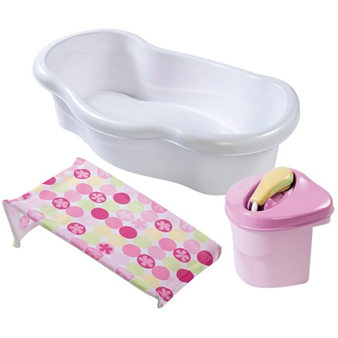 Chau tam voi hoa sen hong Summer 08295 -  Newborn-to-Toddler Bath Center & Shower