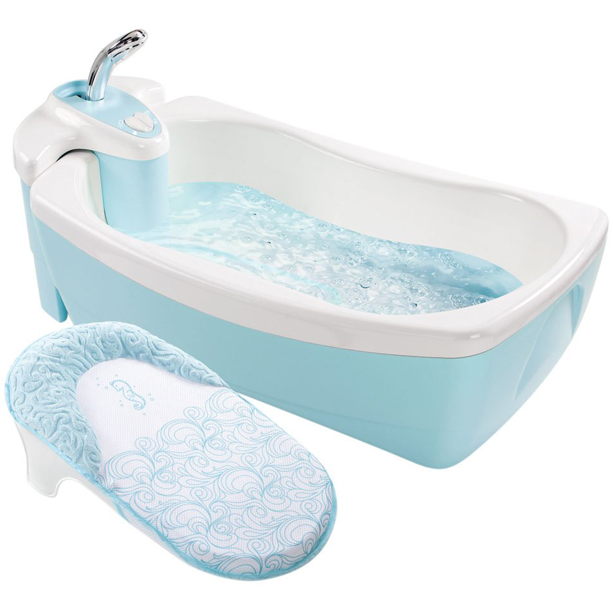 Chau tam Spa mau xanh co voi hoa sen Summer 18863-  Lil Luxuries Tub