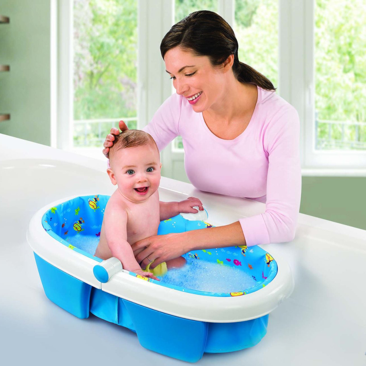 Chau tam du lich Summer 08310 - Newborn to Toddler Fold Away baby Bath