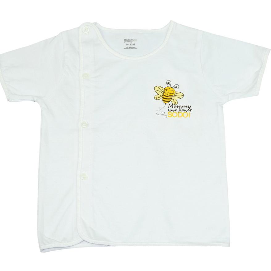 Ao so sinh cai cheo tay ngan Papa 3-6M (Bee)