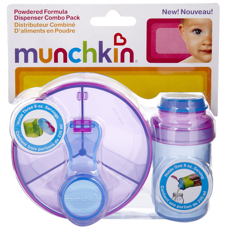 Bo 2 hop dung sua bot Munchkin Powdered Formula Dispenser Combo Pack