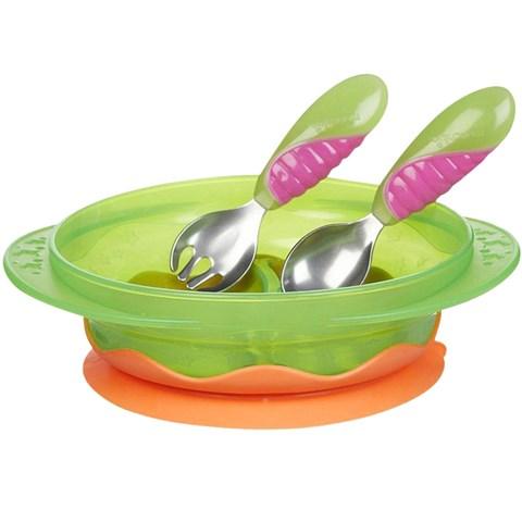 Bo do an chong do Munchkin Suction Bowl Dining Set
