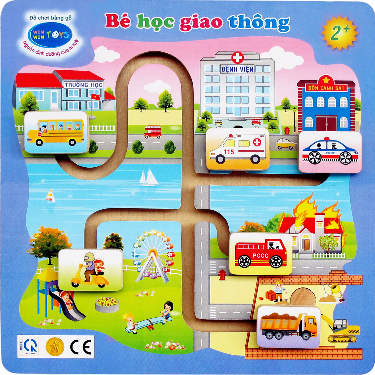 Do choi go Winwintoys 69292 - Be hoc giao thong