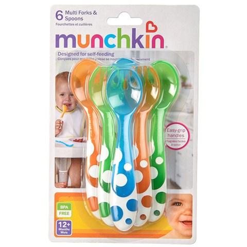Bo thia dia Munchkin gom 6 chiec Multi Fork & Spoons Set