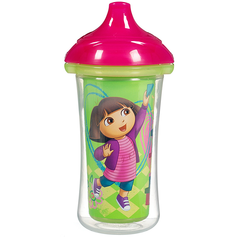 Coc tap uong giu nhiet Munchkin 15402 9oz Dora The Explorer CL Insualated Straw