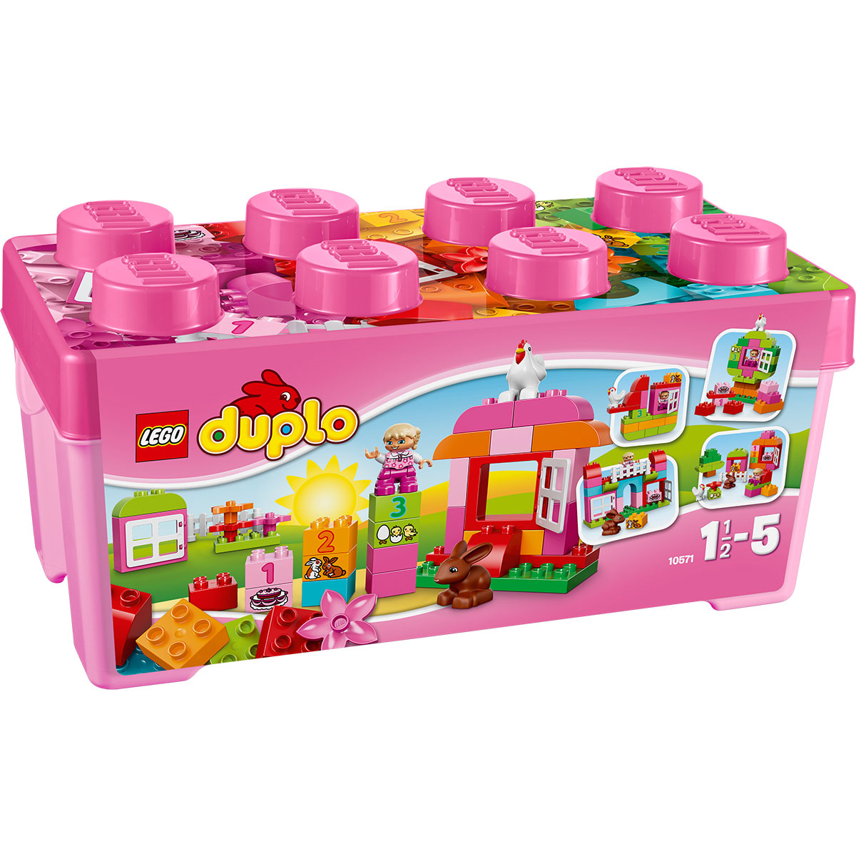 Do choi Lego Duplo 10571 - Trang trai mau hong