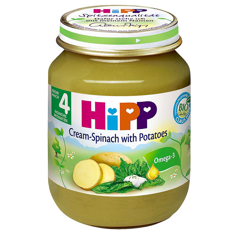 Dinh duong dong lo HiPP rau chan vit, khoai tay, sua 125g