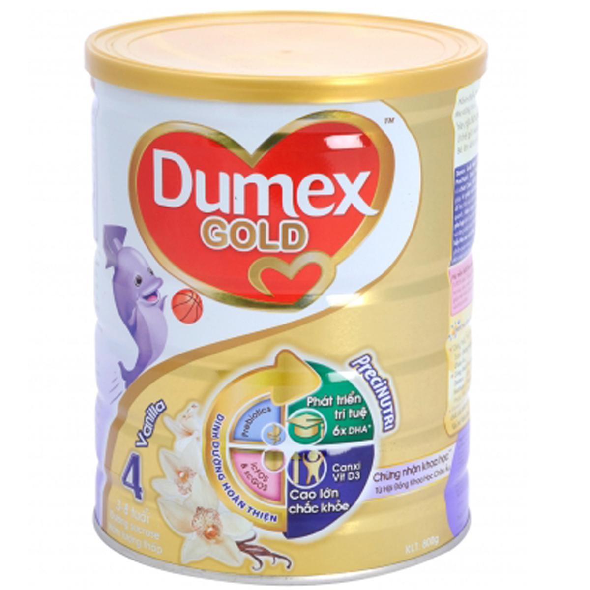 Sua bot Dumex Gold so 4 huong vanilla 800g