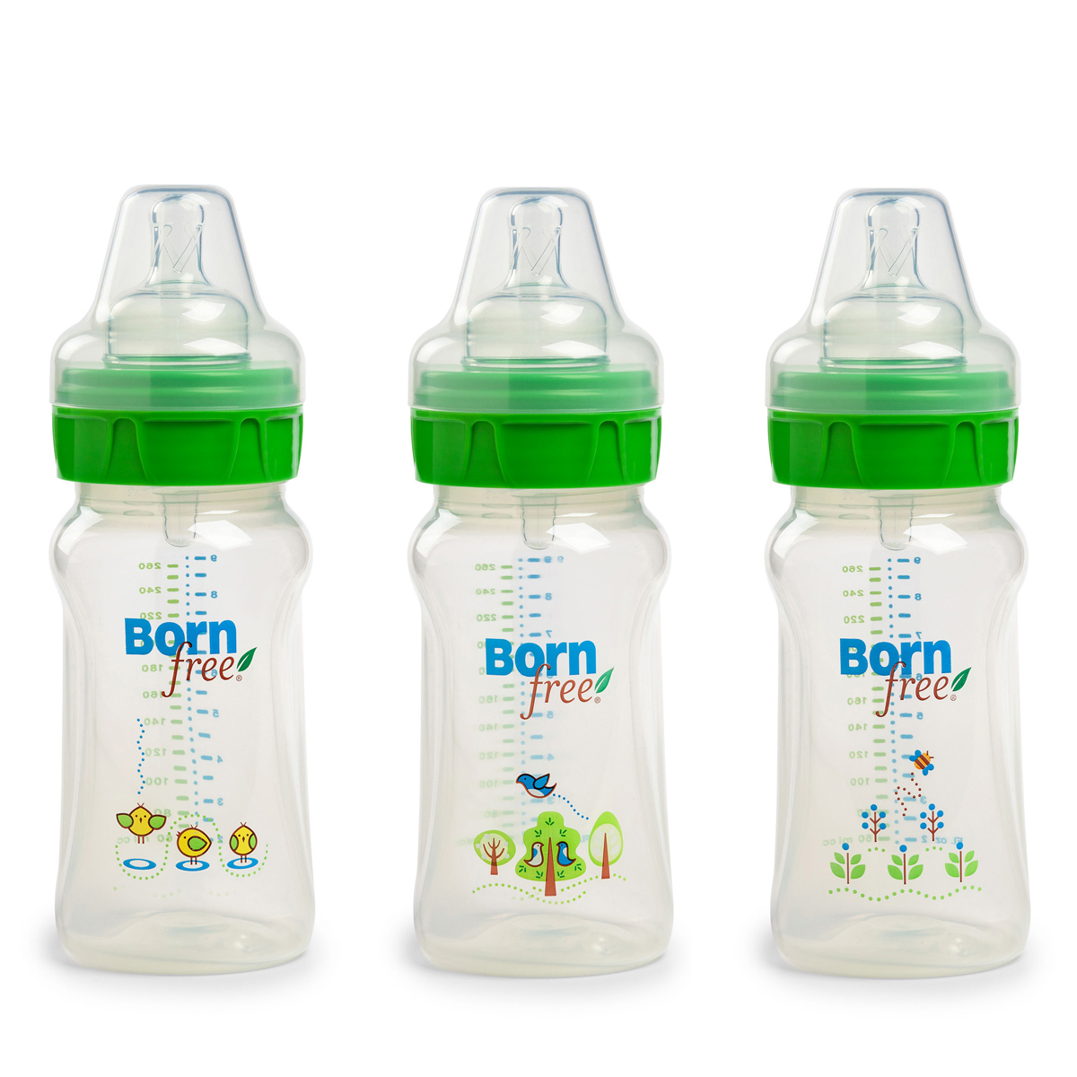 Bo 3 binh Born Free PP 260ml
