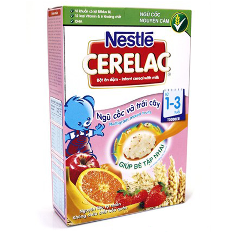 Bot dinh duong Nestle Cerelac ngu coc trai cay