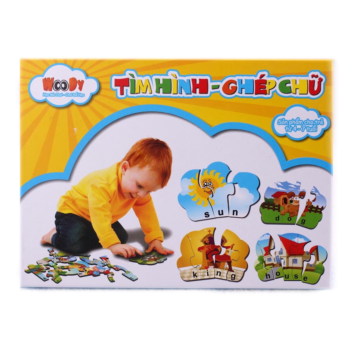 Tranh ghep giay - Tim hinh ghep chu