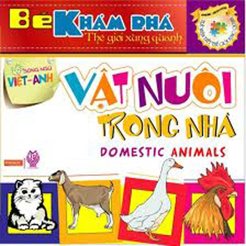 Be kham pha the gioi xung quanh - Vat nuoi trong nha