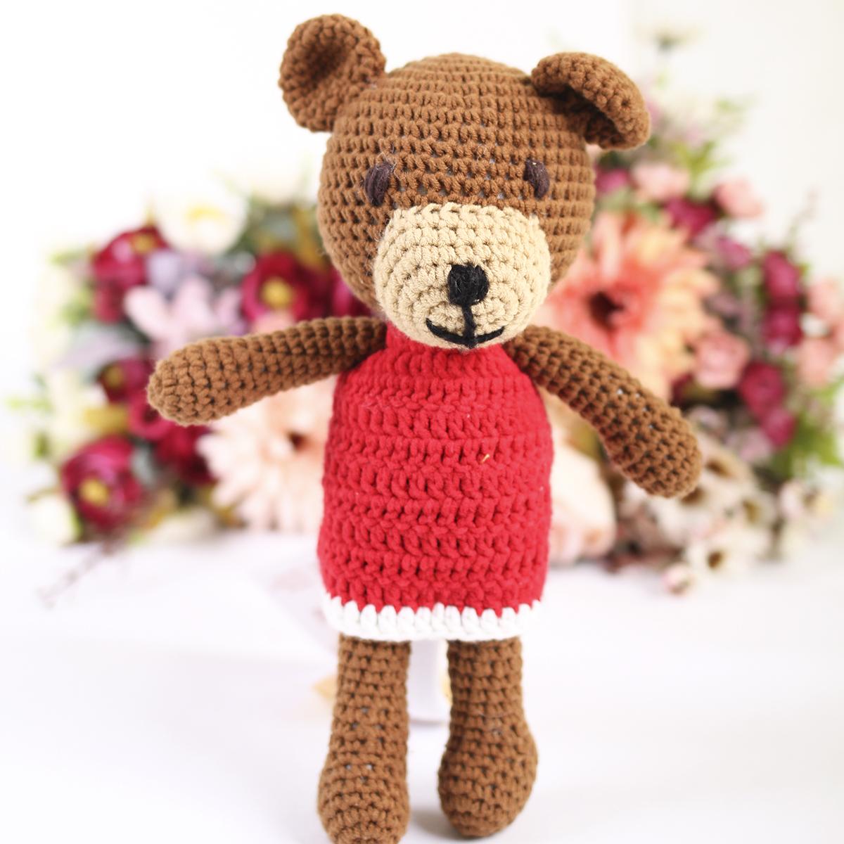 Thu dan len handmade gau mac vay