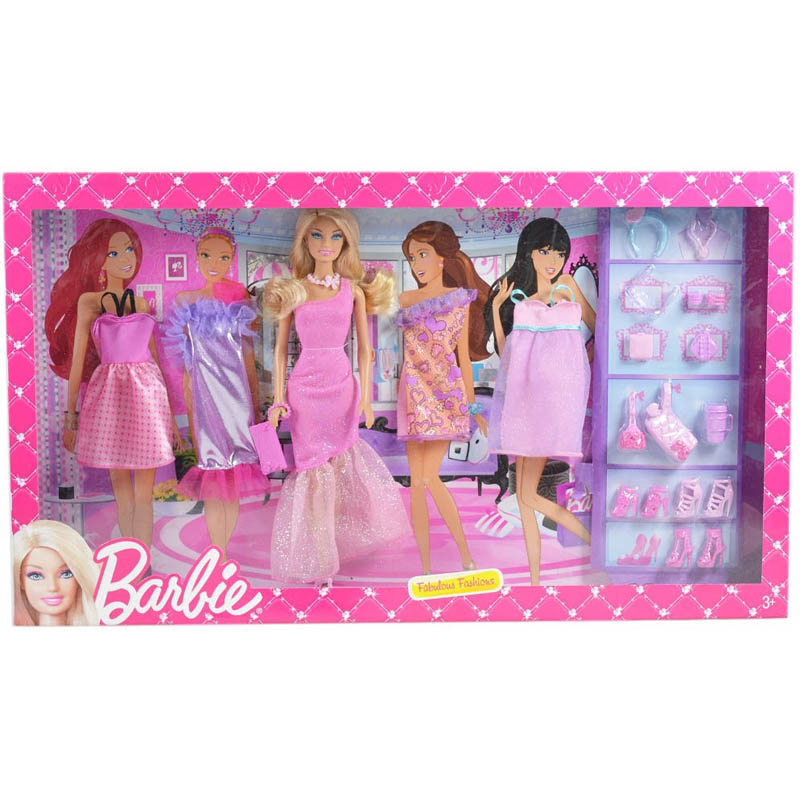 Bo suu tap thoi trang Barbie BCF76