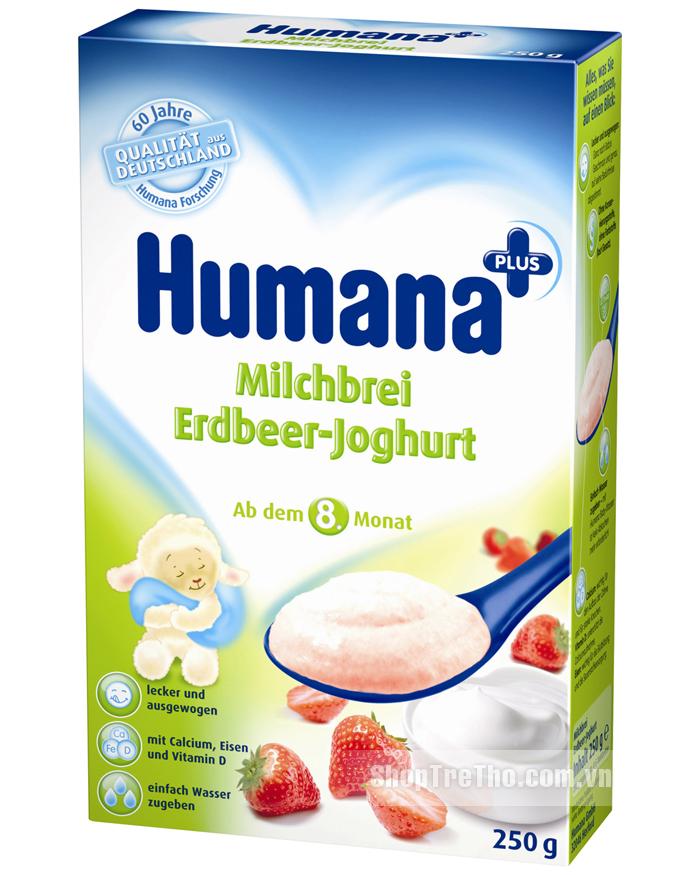 Bot an dam Humana dau tay sua chua