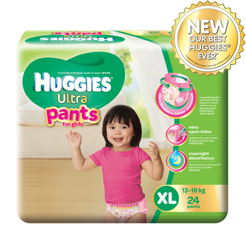 Bim quan Huggies Ultra XL24 cho be gai