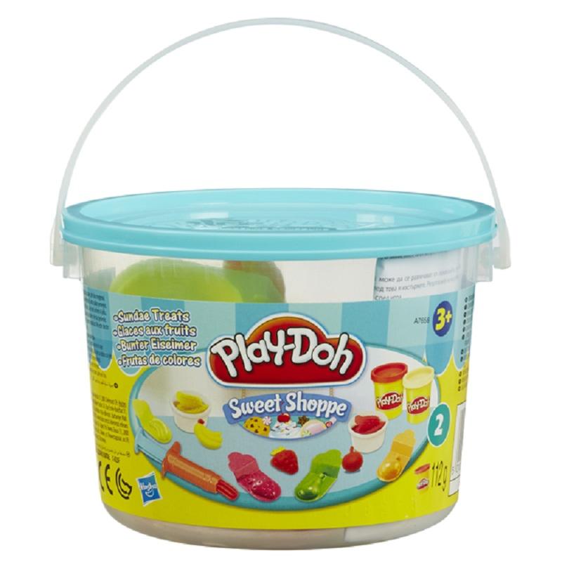 Dat nan Play-Doh Bo lam kem trai cay
