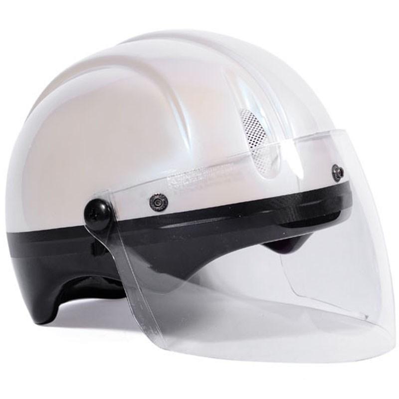 Mũ bảo hiểm Protec Saga màu trắng có kính size S