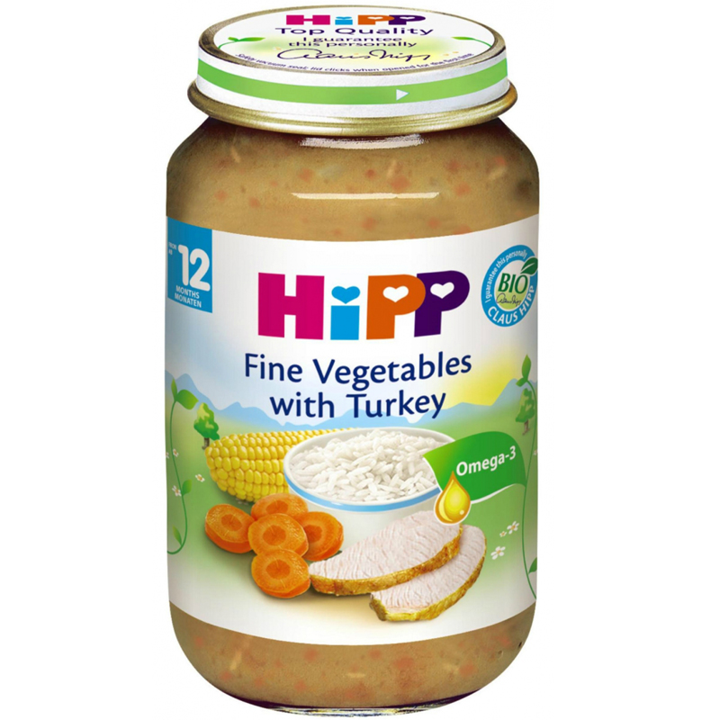Dinh duong dong lo Hipp - com nhuyen ga tay rau tong hop 220g