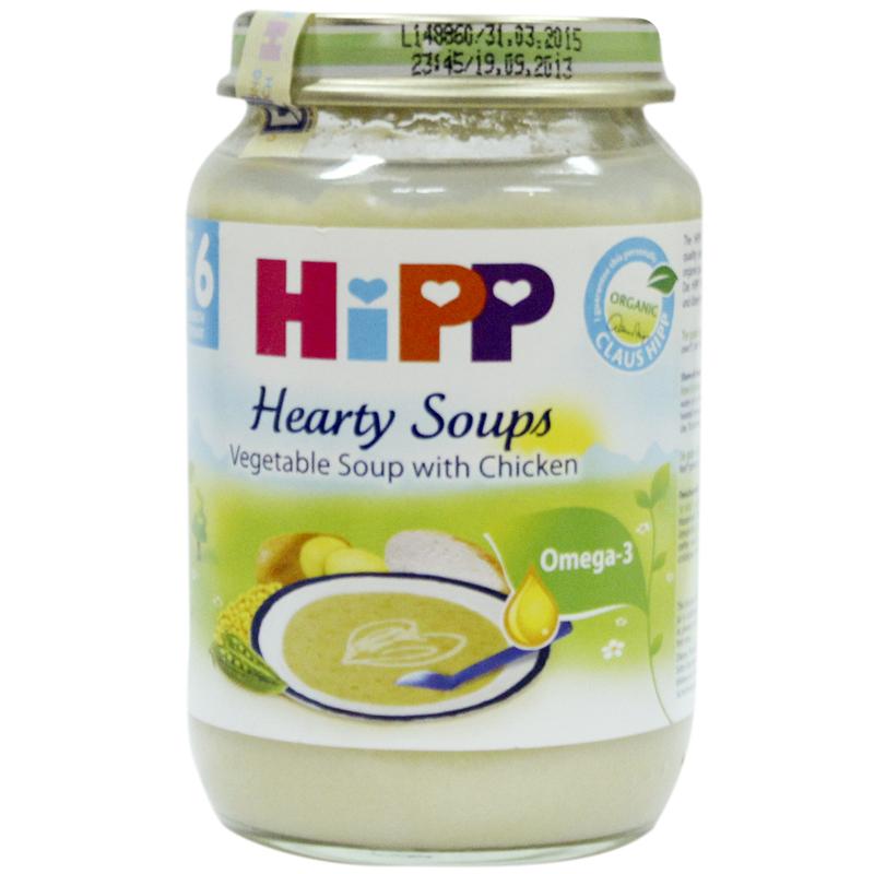 Dinh duong dong lo HiPP sach  - Sup rau thit ga 190g