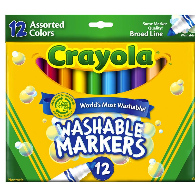 But long 12 mau Crayola (co the tay rua duoc)