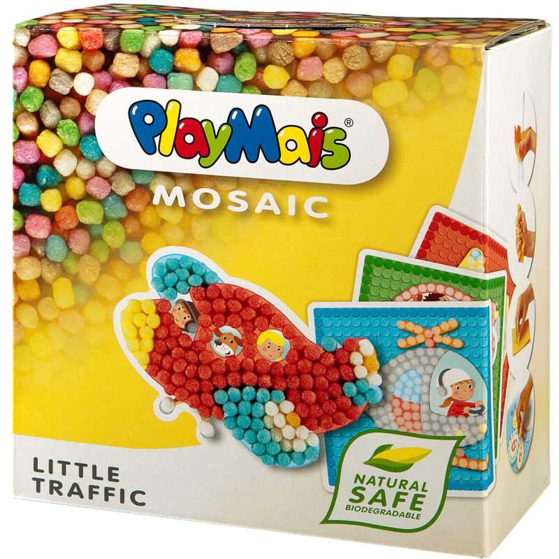 Hop ghep hinh Playmais PM0272 Mosaic o to & may bay