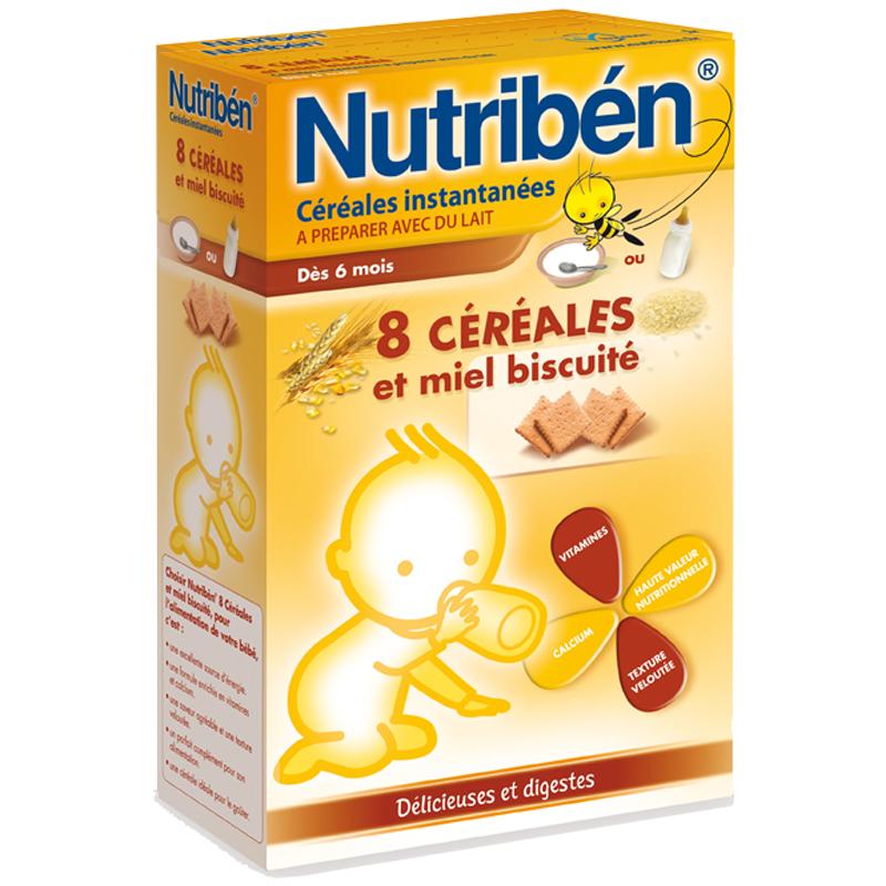 Bot pha sua Nutriben vi lua my, biscuite 6+