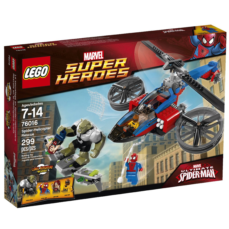Do choi Lego Super Heroes 76016 Spider - Helicopter Rescue
