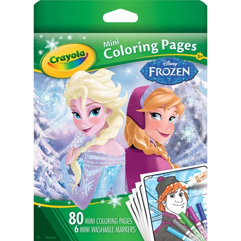 Bo but giay to mau Crayola hinh Frozen 0450620000