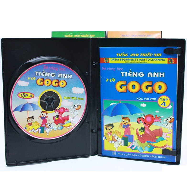 Be cung hoc tieng Anh voi Gogo tap 4 (1VCD+ 1 sach di kem)