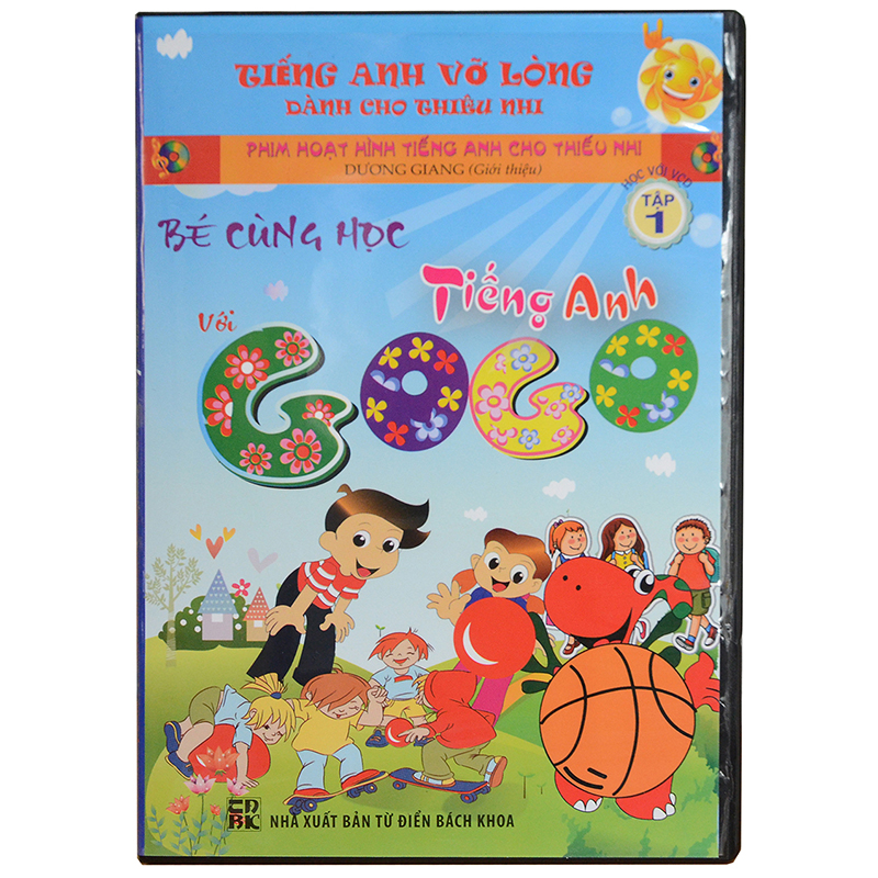 Be cung hoc tieng Anh voi Gogo tap 1 (1VCD+ 1 sach di kem)
