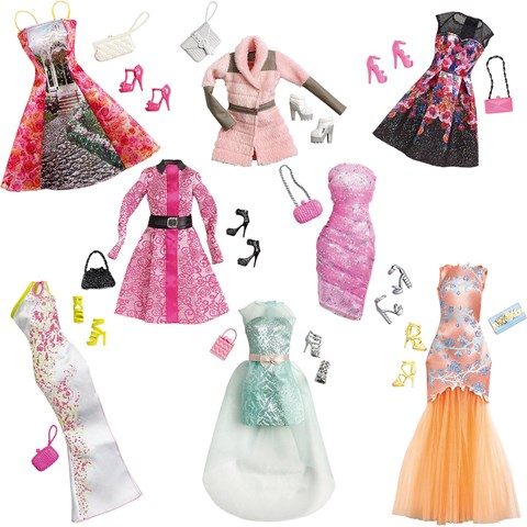 Bo trang phuc va phu kien thoi trang Barbie CFX92