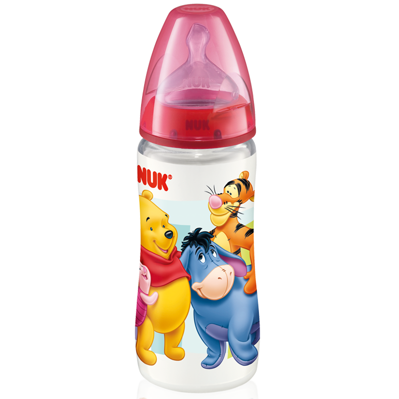 Binh sua co rong Nuk FIRST CHOICE Disney 300ml (nhua)