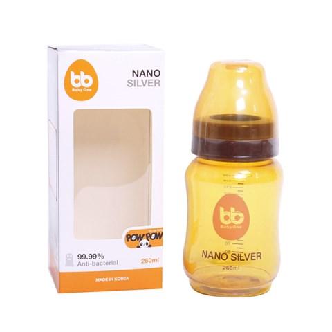 Binh sua nano silver - Mispic 150ml (co rong)